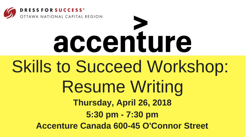Client Workshop: Accenture Skills To Succeed Resume Writing